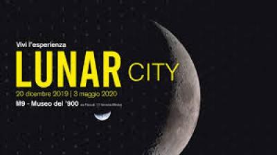 Locandina della mostra Lunar city al museo M9